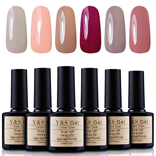 Yaoshun-Gel-Nail-Polish-Soak-Off-UV-LED-Nail-Art-Starter-Kits-Nail-Design-UV-Color-Coat-6PcsLot-10ml