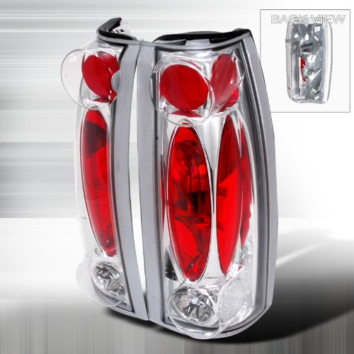 Hstu Cev Cpqr  Gmc Chevy C K 1500 2500 3500 Pickup Chrome Tail Lights