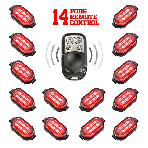 Premium Motorcycle Engine & Ground 84 Led Neon Accent Light Kit With 4-Key Remote - Red