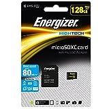 Energizer エナジャイザー microSDXCカード UHS-1 ハイテク 読込:80MB/s (128GB) カード SD変換アダプター付き