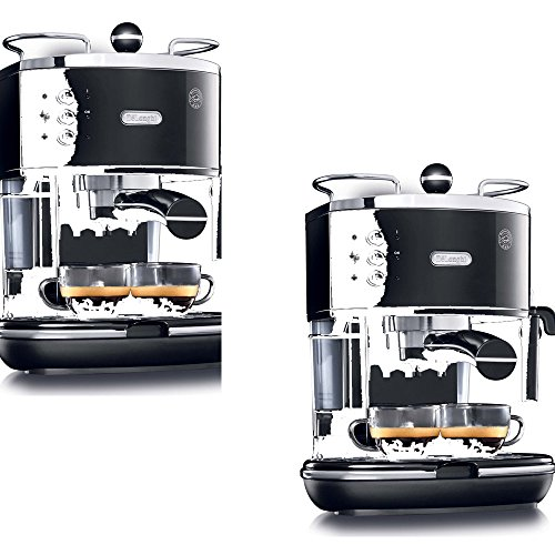 Delonghi Coffee Maker/Grinder Set : De Longhia Black Stainless Steel Fully Automatic Espresso Machine - De Longhi Model - ECO310BK - S