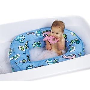 Leachco Bath 'N Bumper - Cushioned Bath Tub - Blue Fish