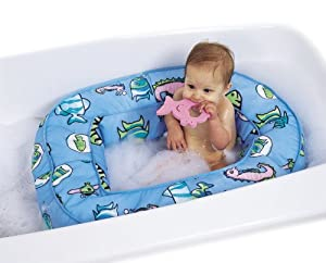 leachco bath 39 n bumper cushioned bath tub blue fish baby bathing seats and. Black Bedroom Furniture Sets. Home Design Ideas