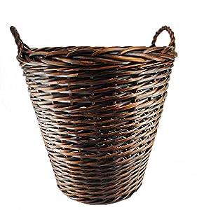 Topot Extra Large Heavy Duty Wicker Log Basket