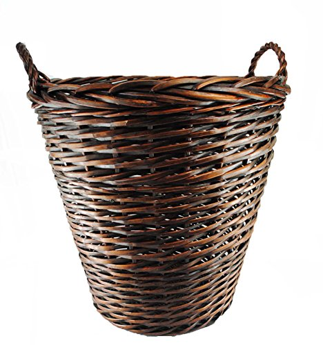 TOPOT Extra Large Heavy Duty Wicker Log Basket with Ear Handles (Large Willow Basket With Handle compare prices)