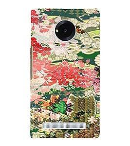PrintVisa Girly Ethnic Flower Design 3D Hard Polycarbonate Designer Back Case Cover for Yu Yunique