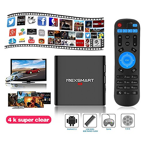 Android Tv Box,Universal Buying Roclchip RK3299 Quad Core Fully Loaded Mini PC Streaming Media Player Smart Tv Set Andriod 5.1 Top Box with H.265 2.4G WIFI HDMI 2.0 1GB/8GB/4K
