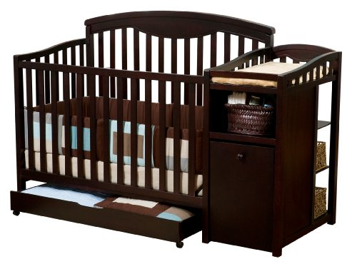 Delta Shelby Crib and Changer, Espresso Cherry