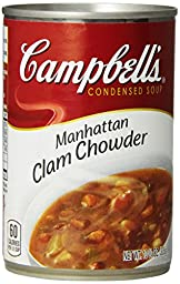 Campbell\'s Condensed Soup, Manhattan Clam Chowder, 10.75 Ounce (Pack of 12)
