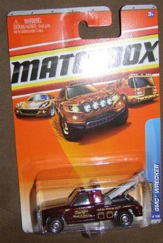 2010 MATCHBOX CITY ACTION #73 BURGUNDY PACIFIC WRECK & SALVAGE GMC WRECKER by Matchbox - 1