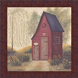 Folk art outhouse ii by pam britton country for Bathroom paintings amazon