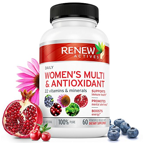 MAX Potency Women's Daily Multi & Antioxidant! Non GMO, Zero Binders or Fillers! Bridge Your Nutrition Gap! Boost Your Energy