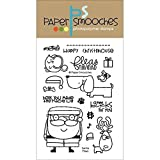 Paper Smooches Clear Stamps, 4 by 6-Inch, Santa Paws