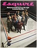 img - for Esquire Magazine. Novmber1969. Muhammad Ali deserves the right to defend his title. book / textbook / text book