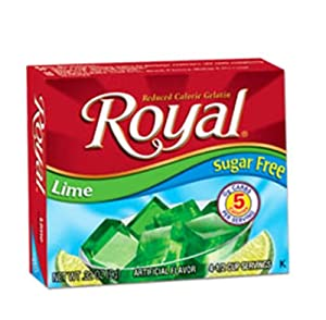 Royal Gelatin Sugar Free Lime 032-ounce Pack Of 12 by The Jel Sert Company