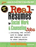 img - for By Anne McKinney Real-Resumes for Social Work & Counseling Jobs [Paperback] book / textbook / text book