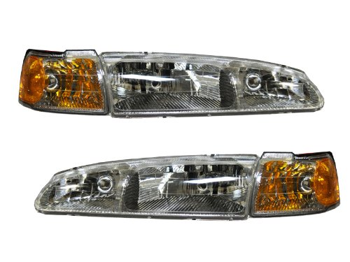 Ford Thunderbird/Mercury Cougar 4-Piece Headlights Set w/Corner Lights (Ford Thunderbird Headlights compare prices)