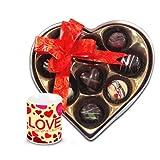 Valentine Chocholik Belgium Chocolates - Coustomized Choco-treats With Love Mug