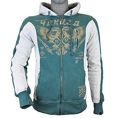 Yakuza Sweat Zipper Herren Hoodie mit Kapuze HZB 632 Logo & Wappen Jasper
