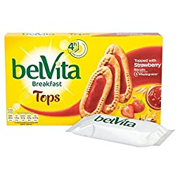 Belvita Tops Strawberry Jam - 5 x 50g