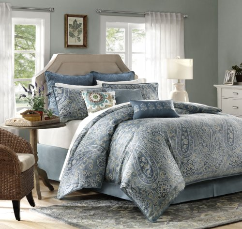 Harbor House Belcourt 4-Piece Comforter Set, King, Multi-Color back-79465