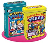 Regular Past Tense Verbs and Irregular Verbs Fun Deck Cards Combo - Super Duper Educational Learning Toy for Kids
