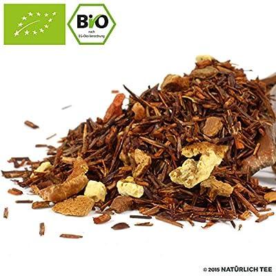 NATÜRLICH TEE - BIO ROOIBOS TEE KAMINGLUT / Natürlich Aromatiserter Koffeinfreier Biotee, Rotbusch, Reubusch, Caffeine Free South African Flavored Tea Organic - 250G von Natürlich Tee bei Gewürze Shop