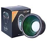 ワイドレンズ 58mm、K&F Concept® 58MM 0.43x 広角レンズ HD Wide Angleレンズ マクロレンズ 高解像度 グリーンコート+レンズポーチCANON Rebel (T5i T4i T3i T3 T2 T2i T1i XT XTi XSi XS SL1) CANON EOS (1100D 700D 650D 600D 550D 500D 450D 400D 300D 100D)専用