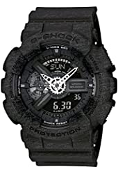 Casio G-Shock Heathered Black Dial Resin Quartz Men's Watch GA110HT-1A