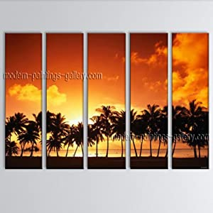 wall art seascape painting hawaii beach canvas art dining room wall