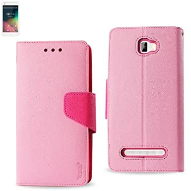 Reiko High Quality Premium BLU Studio Leather 5.5(D610)Fitting Flip Wallet Case 3 IN 1 With Card Slots-Pink at Sears.com