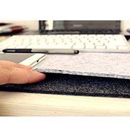 AUCH Multifunctional Protective PU Leather Mat /Mouse Pad /Table Mat/Desk Pad/Organizer For Desktops And Laptops,Grey by AUCH