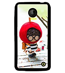Printvisa Animated Cute Boy Going To School Back Case Cover for Nokia Lumia 630::Nokia Lumia 630 3G