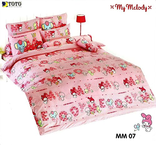 My Melody Bedding In Bag Set ; 1 Four Season Comforter With 4 Pieces Of Bed Fitted Sheet Set (Queen Size, Mm07) front-384408