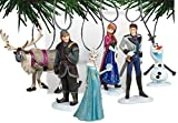 Disney Frozen Christmas Tree Ornament Set Featuring Anna, Elsa, Hans, Kristoff, Sven the Reindeer, Olaf the Snowman - Shatterproof Plastic Ornaments Ranging from 3 to 4 Tall