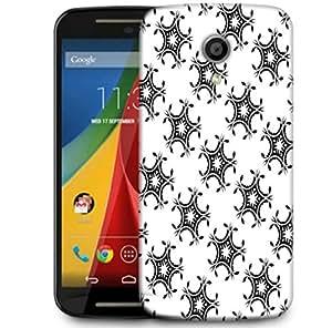 Snoogg Leafy Pattern Designer Protective Phone Back Case Cover For Motorola G 2nd Genration / Moto G 2nd Gen