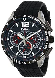 Pulsar Men's PU2021 Stainless Steel Watch with Black Strap