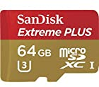 SanDisk Extreme PLUS 64GB U3 UHS-I/ U3 Micro SDXC Memory Card 4K Ultra HD Video Capture Up To 80MB/s Read 50MB/s Write + Adapter That Allows You To Use Your MicroSD Card In An SD Card Slot + A FREE 1-Year Subscription to Magisto Video Editor