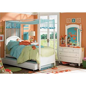 Lea Industries 505 Bedroom Series Elation Tester Canopy Bedroom Set