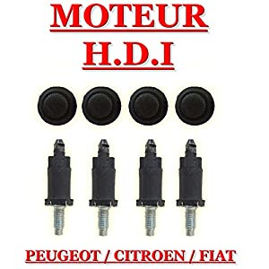 cache moteur 4 vis et 4 clips fixation moteur hdi peugeot citroen fiat. Black Bedroom Furniture Sets. Home Design Ideas