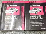 2004 Toyota TUNDRA TRUCK Service Shop Repair Manual Set OEM 04 W EWD FACTORY (2 volume set, and the electrical wiring diagrams manual  volume 1 covers preparations/specifications/diagnostics/Maintenance,and volume 2 covers engine/chassis/body/electrical)