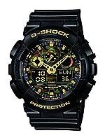 Casio G-SHOCK GA-100CF-1A9ER Orologio da Polso Uomo, Quarzo Analogico Digitale, Quadrante Nero,