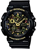 G-Shock Men's Quartz Watch with Multicolour Dial Analogue - Digital Display and Black Resin Strap GA-100CF-1A9ER