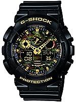 Casio - GA-100CF-1A9ER - G-Shock - Montre Homme - Quartz Analogique - Digital - Cadran Noir - Bracelet Résine Noir