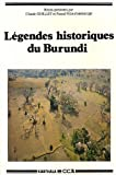 echange, troc C. Guillet, P. Ndayishunguje - Légendes historiques du Burundi