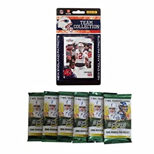 NFL New England Patriots 2010 Score Team Set with Six Score Football Packs by Panini