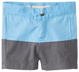 Andy & Evan Baby-Boys Newborn Far Out Two Tone Twill Short, Grey, 3-6 Months