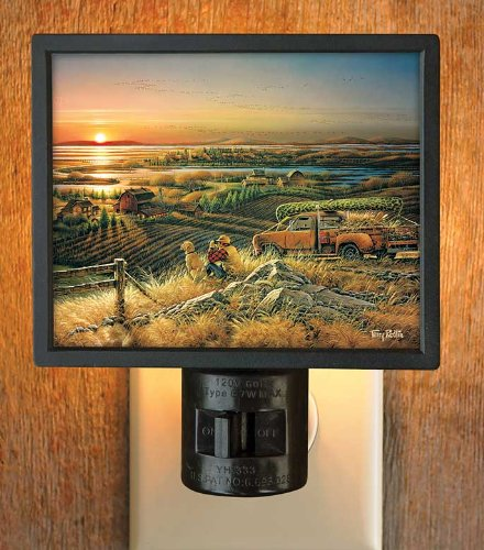 Best Friends Hunter & Dog Gallery Art Night Light by Terry Redlin