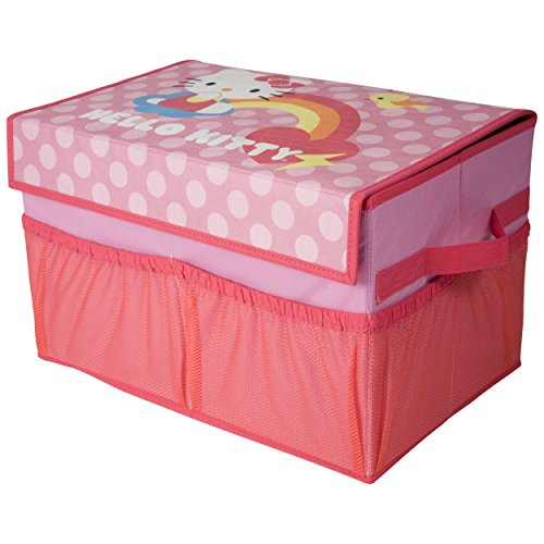 Hello Kitty Toy Bin : Hello kitty collapsible storage trunk with mesh pockets