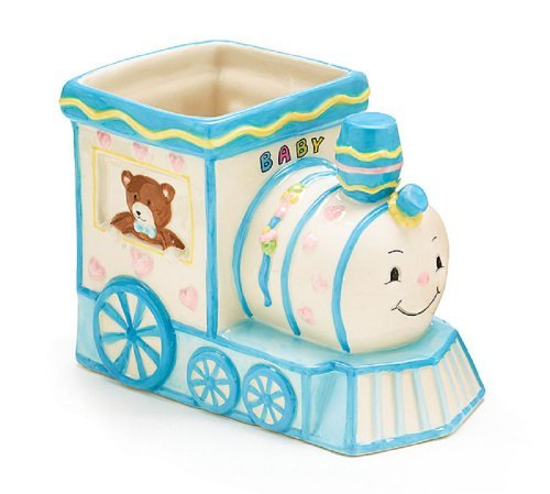 Smiley Choo Choo Train Engine Planter/holder Adorable Baby Nursery or Shower Decor - 1